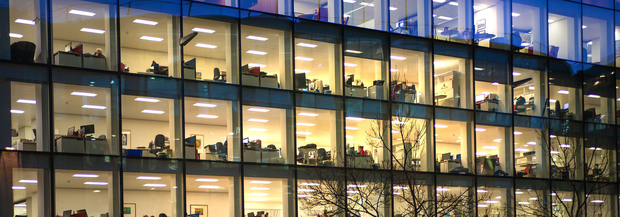 Late office workers